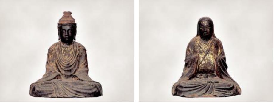木造男神坐像、木造女神坐像(県指定、彫刻)