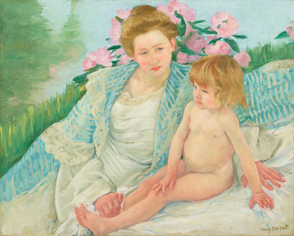メアリー・カサット《日光浴(浴後)》1901年 石橋財団アーティゾン美術館蔵