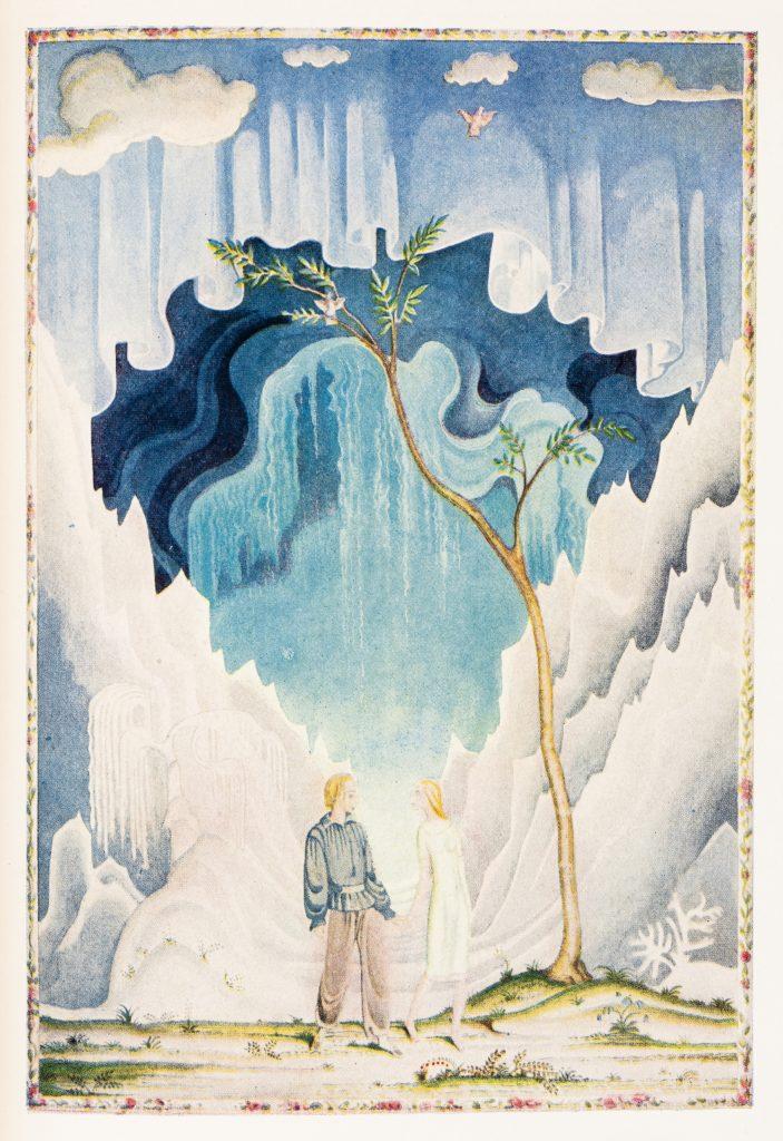 カイ・ニールセン画「雪の女王」 『Fairy Tales by Hans Andersen(アメリカ版)』1924年/George H. Doran Company刊