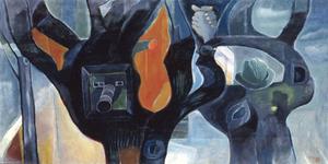 寺田政明《樹は見ている》 1987年、板橋区立美術館蔵