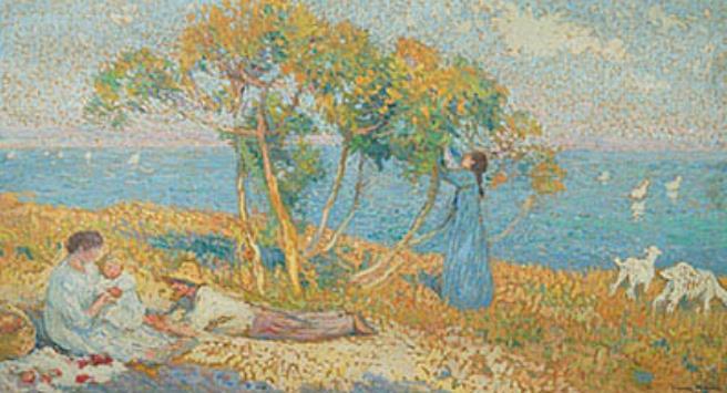 アンリ・マルタン《ガブリエルと無花果の木》1911年 フランス、個人蔵 ©Archives photographiques Maket Expert