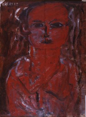 長谷川利行≪赤い少女≫ 1932年、板橋区立美術館蔵