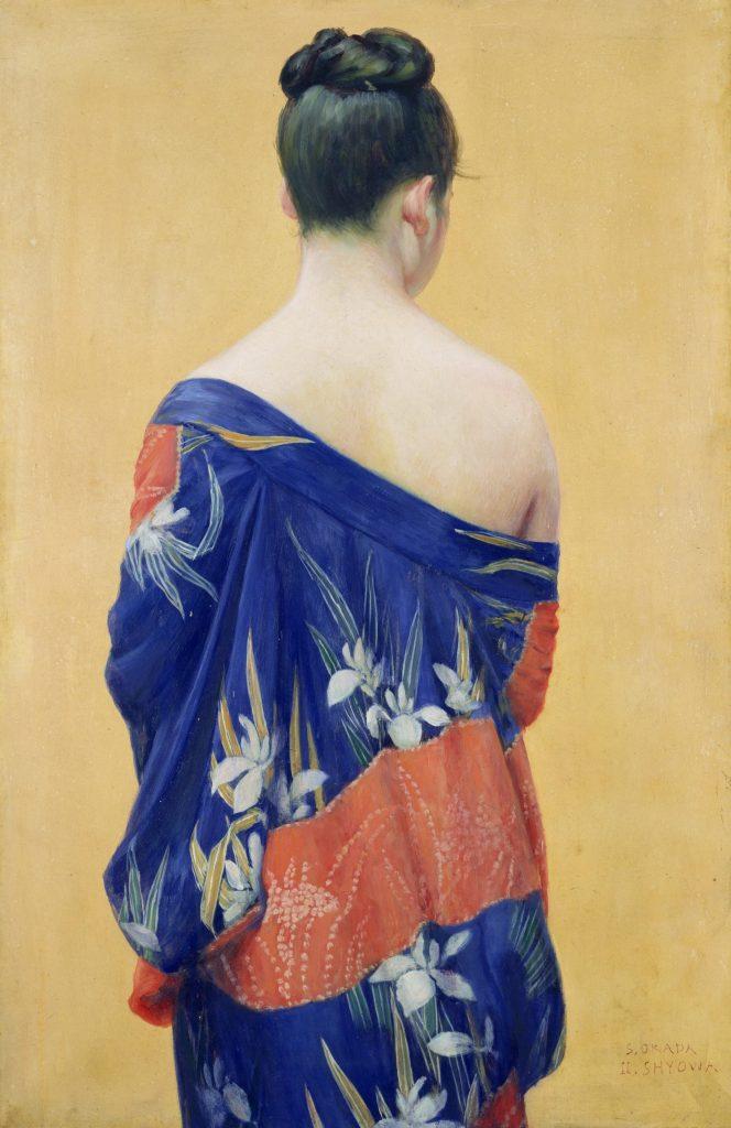 岡田三郎助《あやめの衣》 1893年 ポーラ美術館蔵