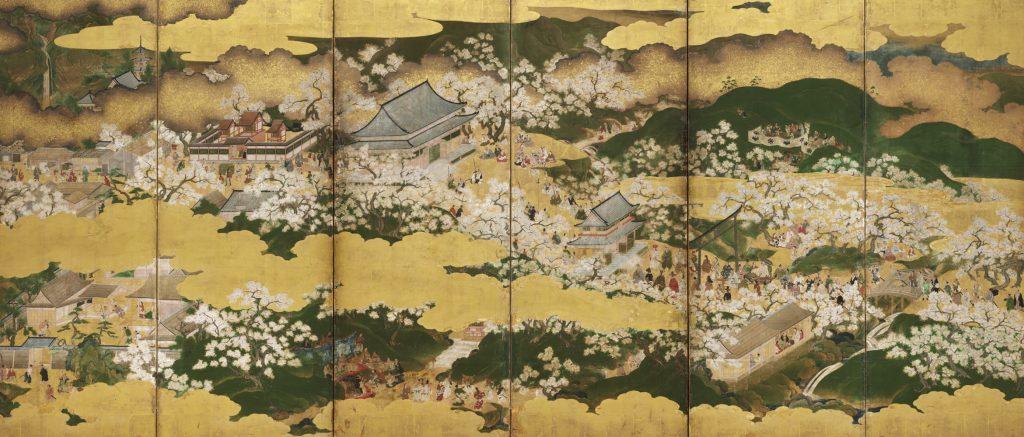 重要文化財 豊公吉野花見図屛風(左隻) 桃山時代