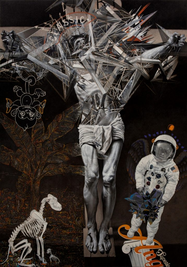 ≪無題≫ 2021年 油彩・キャンバス 304.8×213.4cm