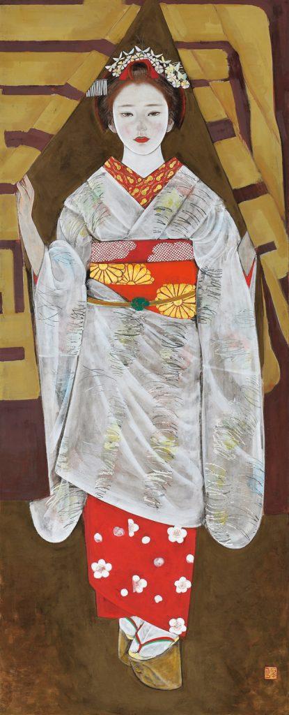 石本正「のれん」1970(昭和45)年/個人蔵