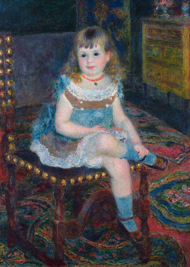 ピエール=オーギュスト・ルノワール《すわるジョルジェット・シャルパンティエ嬢》1876年 石橋財団アーティゾン美術館蔵