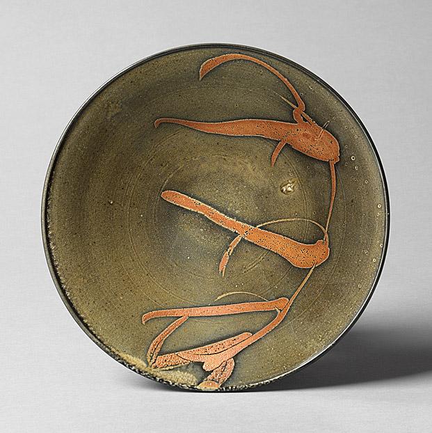 《マイヤーズ志野鉄絵鉢》2008年 (いずれも個人蔵)