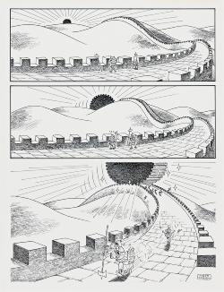 《長城と日の出?》原画 1982年 courtesy of ANOMALY
