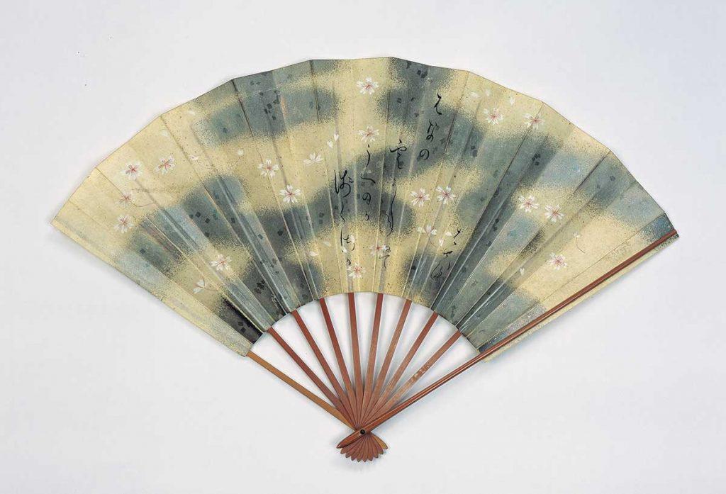 松尾芭蕉筆 「はなの雲」句扇面 貞享4年(1687) 【前期展示】