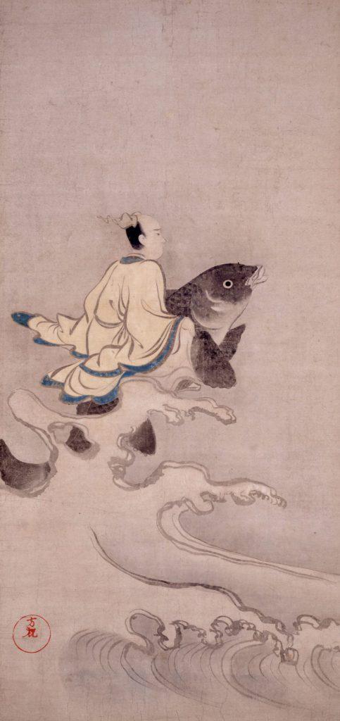 琴高仙人図 尾形光琳 江戸時代 18世紀