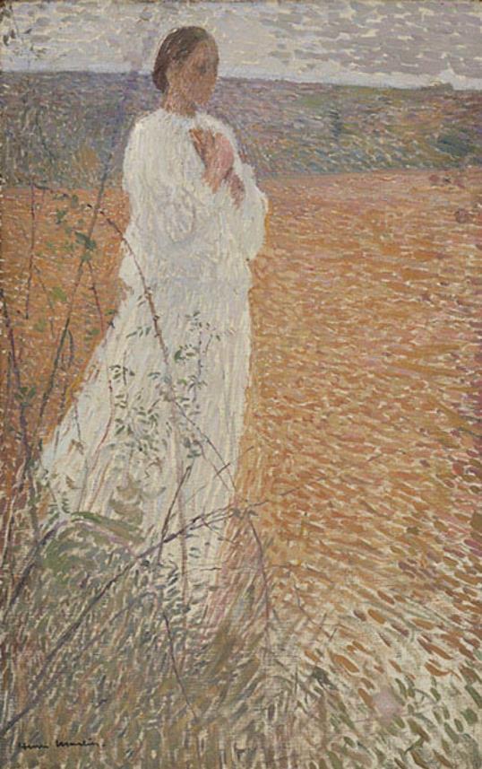アンリ・マルタン《歩く若い女性》1890-1892年頃 フランス、個人蔵