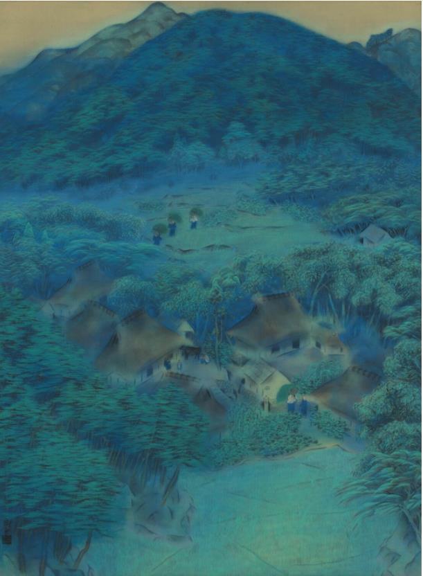速水御舟《洛北修学院村》1918年 滋賀県立美術館