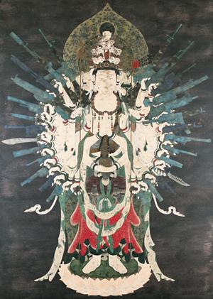天明屋尚《ネオ千手観音》2002年 高橋龍太郎コレクション