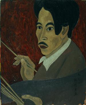 北川民次《画家の肖像》1931年