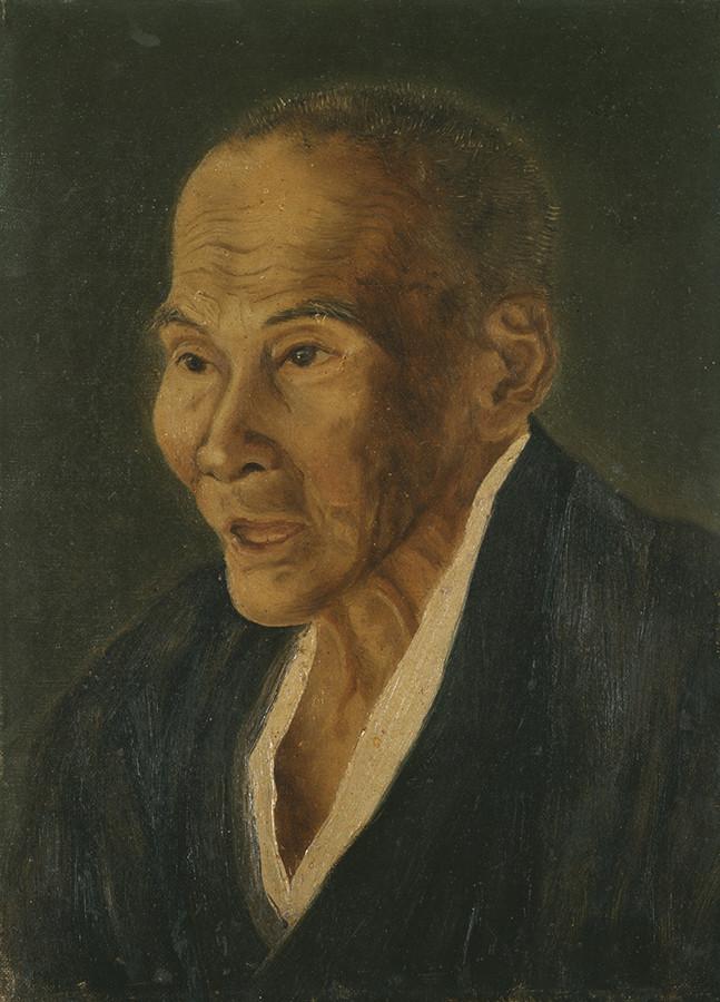 高橋由一《小幡耳休之肖像》1872年、福富太郎コレクション資料室