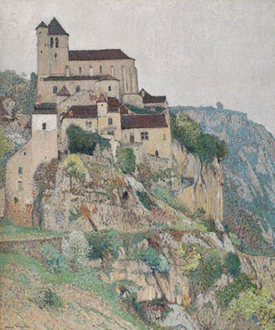 アンリ・マルタン《サン・シル・ラポピーの崖》1911年頃 フランス、個人蔵 ©Archives photographiques Maket Expert