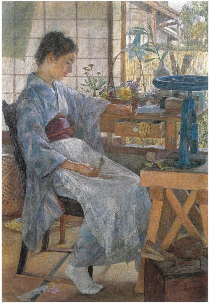 藤島武二《造花》 1901年 東京芸術大学蔵