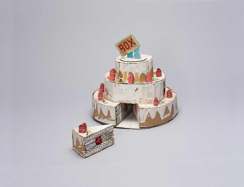 日比野克彦《WEDDING CAKE》1980年 岐阜県美術館