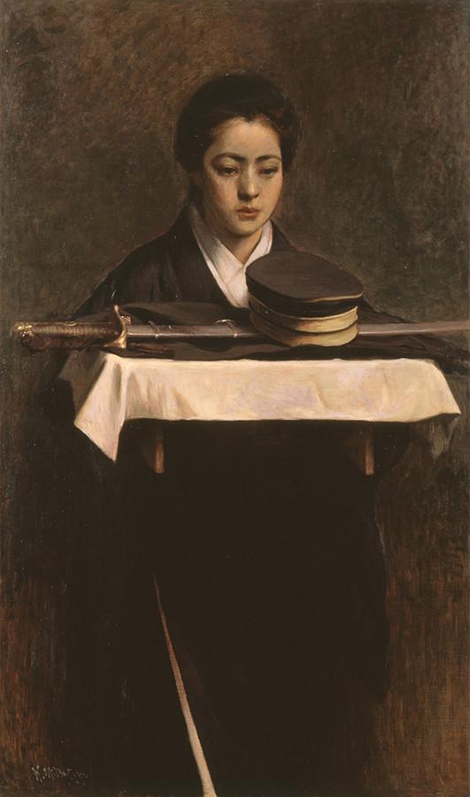 満谷国四郎 《軍人の妻》 1904年 福富太郎コレクション資料室