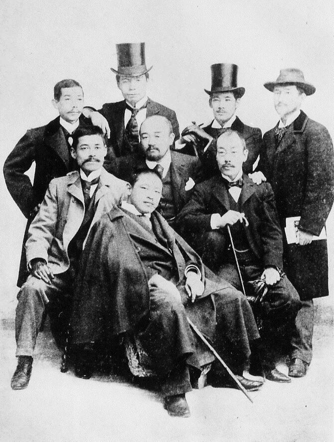 1900年、パリ万博に集った白馬会会員たち