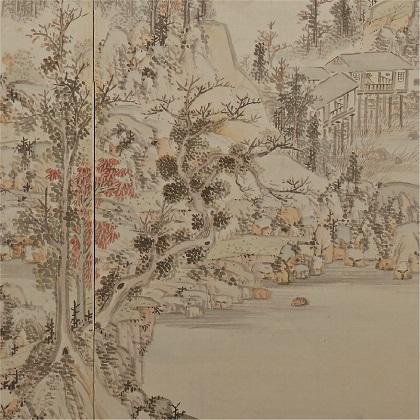 春秋山水図屏風(部分) 浦上春琴 江戸時代 文政4年(1821) Mary Griggs Burke Collection, Gift of the Mary and Jackson Burke Foundation