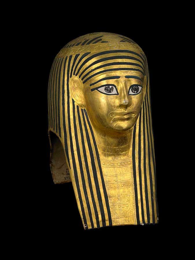 黄金のカルトナージュのミイラマスク 前100~後100年頃、大英博物館蔵、 © The Trustees of the British Museum