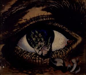 藤田鶴夫《悲劇の目(凝視)》 1936年、板橋区立美術館蔵