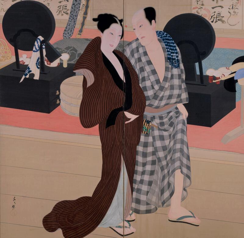 三宅凰白 《楽屋風呂から》 1915 京都市立芸術大学芸術資料館