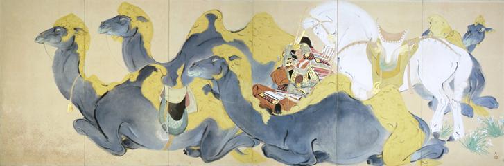川端龍子《源義経(ジンギスカン)》1938年、大田区立龍子記念館