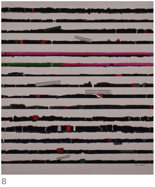 8. 猪熊弦一郎《Landscape GT》1972年 丸亀市猪熊弦一郎現代美術館蔵