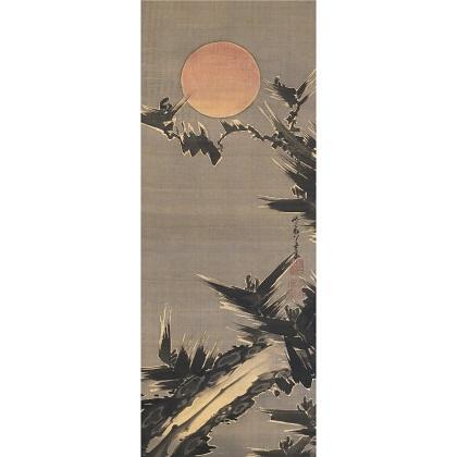 旭日老松図(部分) 伊藤若冲 江戸時代 寛政12年(1800) Gift of the Clark Center for Japanese Art & Culture