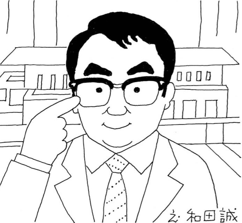 三谷幸喜「ありふれた生活」挿絵 朝日新聞 2013. 8. 22©Wada Makoto