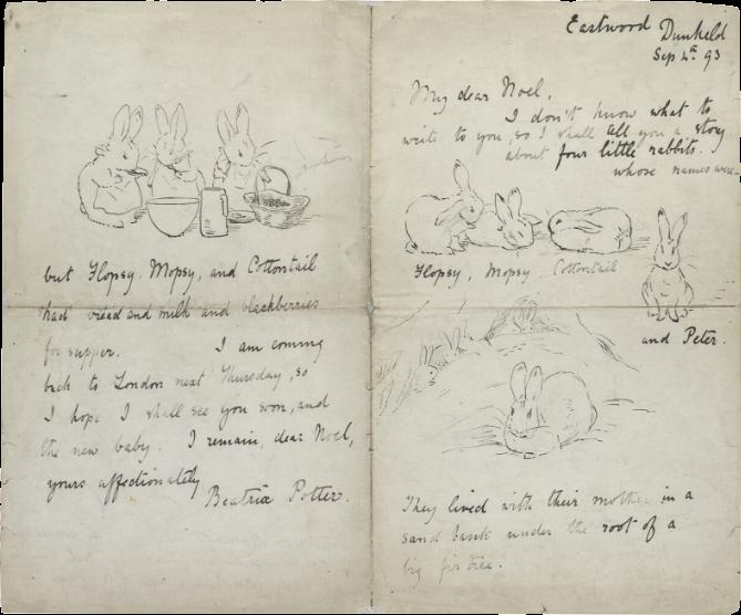 《ノエル少年への絵手紙》1893年 ヴィクトリア&アルバート博物館(ピアーソン)