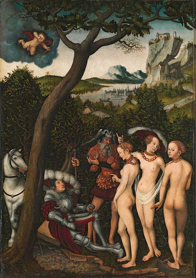 《パリスの審判》 ルカス・クラーナハ(父) 1528年頃 油彩/板(ブナ) 101.9×71.1cm Rogers Fund, 1928 / 28.221 ニューヨーク、メトロポリタン美術館