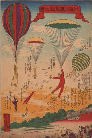 永島春暁 《上野公園風船之図》 1890年 東京都江戸東京博物館蔵