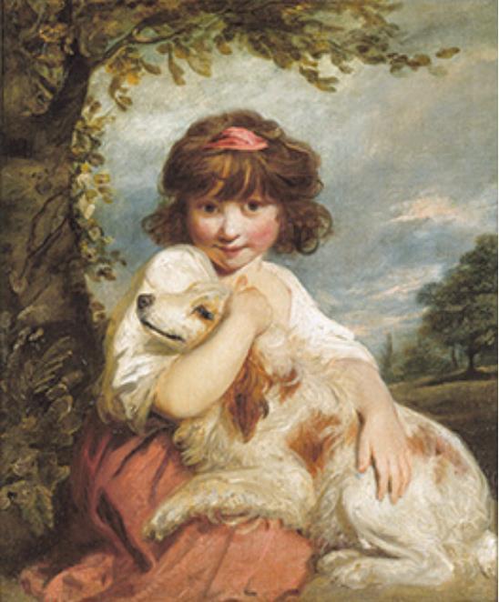 ジョシュア・レノルズ 《少女と犬》 1780年頃