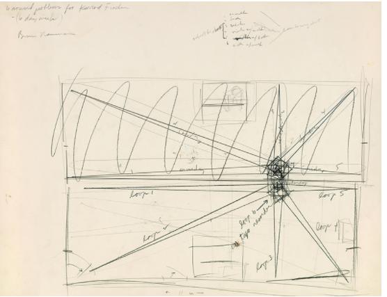 ブルース・ナウマン《コンラート・フィッシャーのための音に関する6つの問題 (# Z 94)》1968年 ノルトライン゠ヴェストファーレン州立美術館、デュッセルドルフ © 2021 Bruce Nauman / ARS, New York / JASPAR, Tokyo   G2589