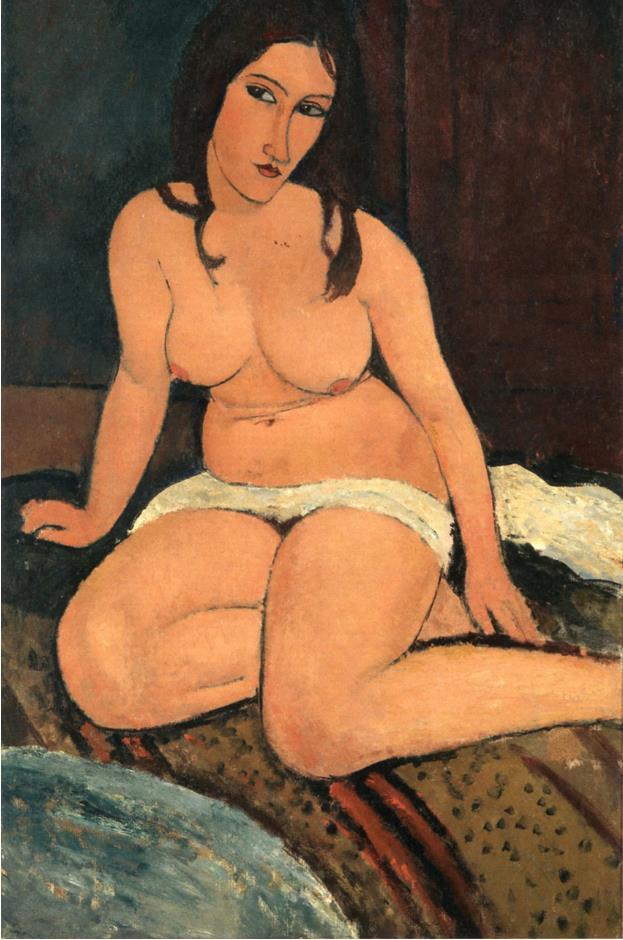 《座る裸婦》1917年 アントワープ王立美術館蔵 photo: Rik Klein Gotink, Collection KMSKA - Flemish Community (CC0)