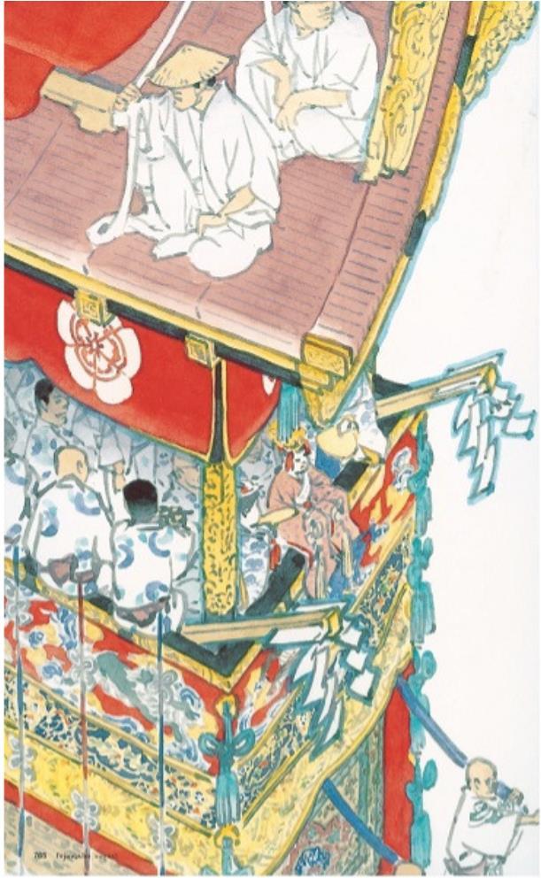 山口晃《山鉾巡行》2013『婦人画報』2013年8月号 (ハースト婦人画報社刊)掲載 *前期(7/6-9/12)展示 ©YAMAGUCHI Akira, Courtesy of Mizuma Art Gallery