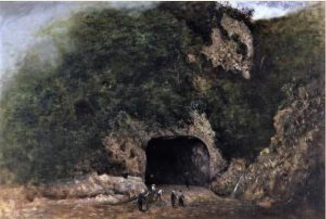 高橋由一 《栗子山隧道》1881年