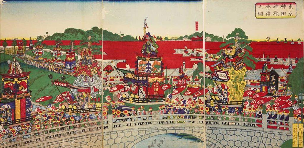 東京神田神社祭礼図