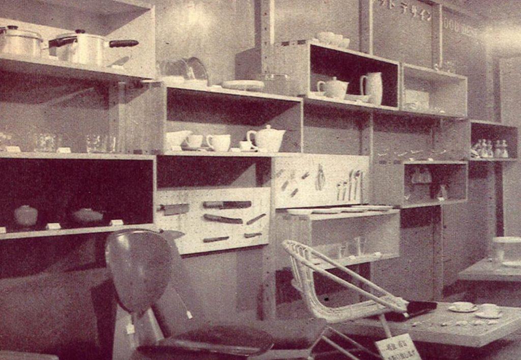 1955 年当時の松屋「グッドデザインセクション」売場風景 写真提供:日本デザインコミッティー