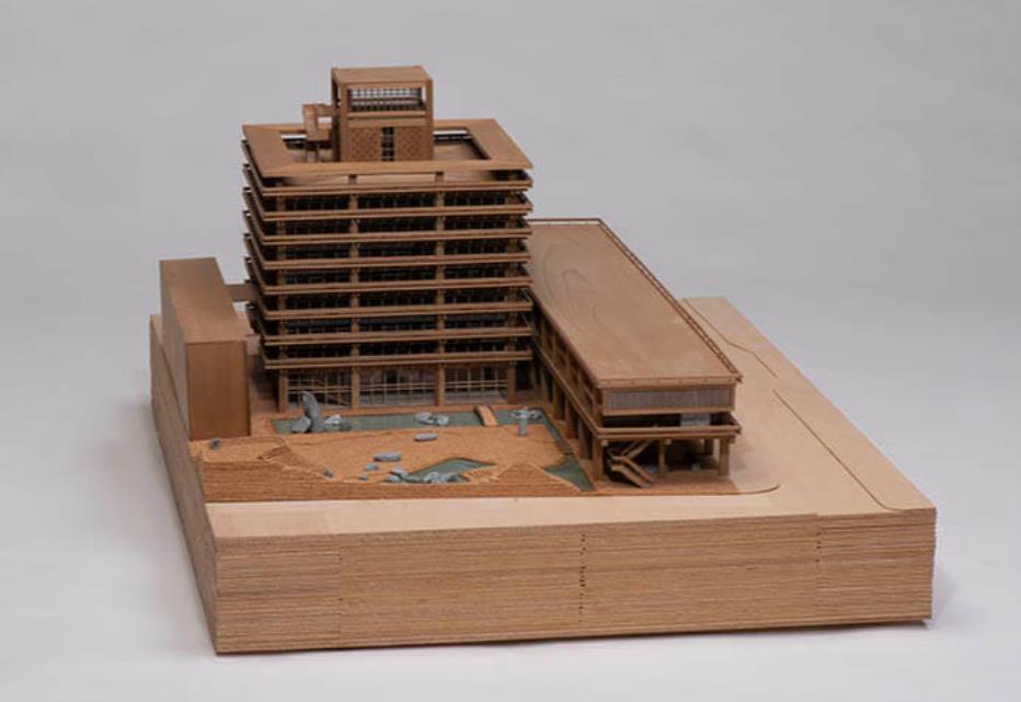 丹下健三計画研究室(制作:神谷宏治+日大川岸研究室)《香川県庁舎( 1958 年)模型》2013年、香川県立ミュージアム蔵
