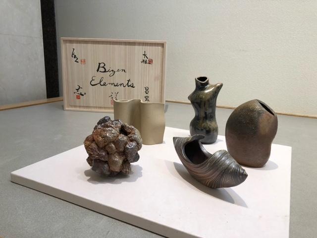 最後に、5名の先生方による花器?オブジェ? 特別企画作品『Bizen Elements』を紹介いたします。