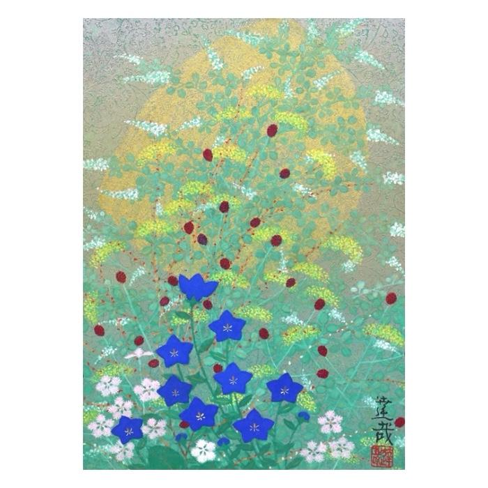 石踊 達哉 「 秋 草 」 日本画 33.0×23.5