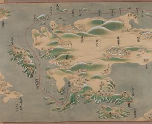 「東海道五十三次図巻」(部分) 江戸時代前期頃