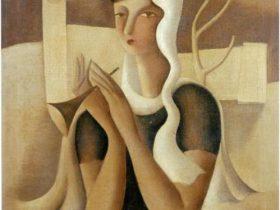 東郷青児《羊飼》1935 年 糖業協会蔵