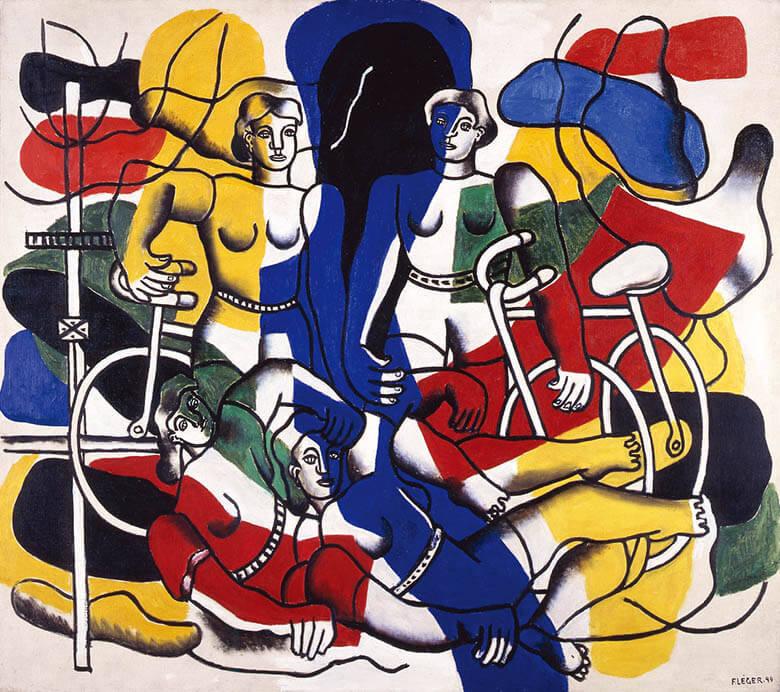 フェルナン・レジェ「美しい自転車乗り」1944年 徳島県立近代美術館蔵