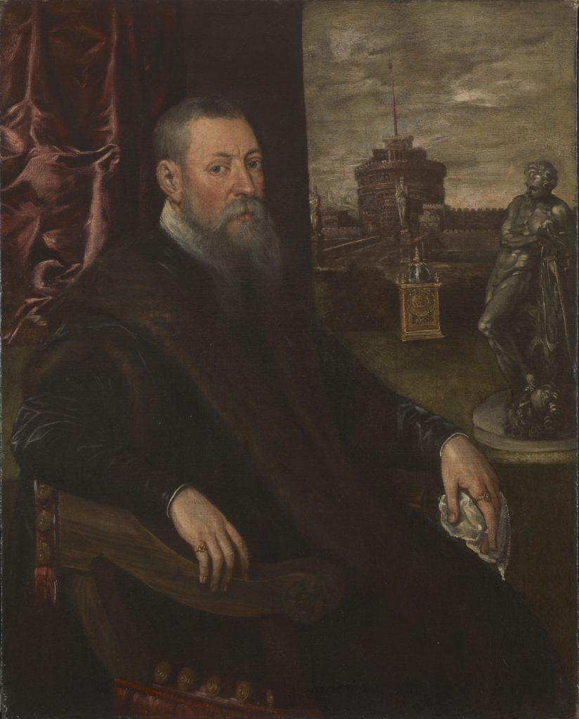 ティントレット(ヤーコポ・ロブスティ) 《蒐集家の肖像》 1560-65年